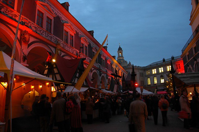 Evening at Medieval Christmas Market - Dresden, Germany