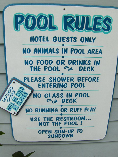 Pool Rules Flickr Photo Sharing