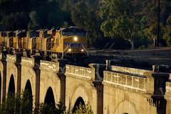 Railfanning, Santa Ana River Viaduct, Riverside, California