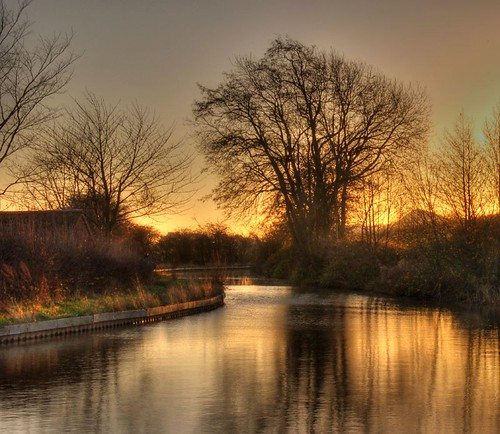 The canal at dawn