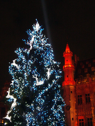 Christmas Lightshow at the Grand Place