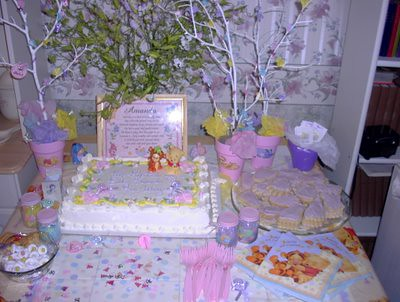 Baby shower cake table display Flickr - Photo Sharing!