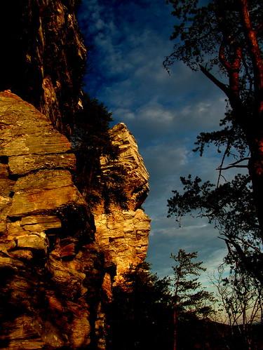 sunset sky rock climb sauratown
