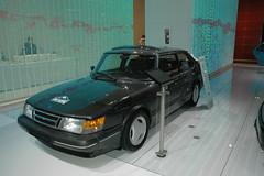 model car(0.0), sedan(0.0), convertible(0.0), automobile(1.0), automotive exterior(1.0), wheel(1.0), vehicle(1.0), automotive design(1.0), saab automobile(1.0), compact car(1.0), bumper(1.0), land vehicle(1.0), luxury vehicle(1.0), sports car(1.0),