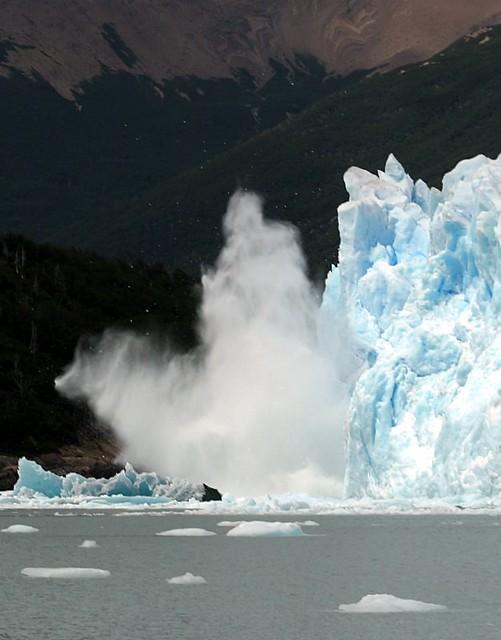 A Collapsing Ice Wall - Perito Moreno Glacier - Los Glaciares Natinal Park - Argentina