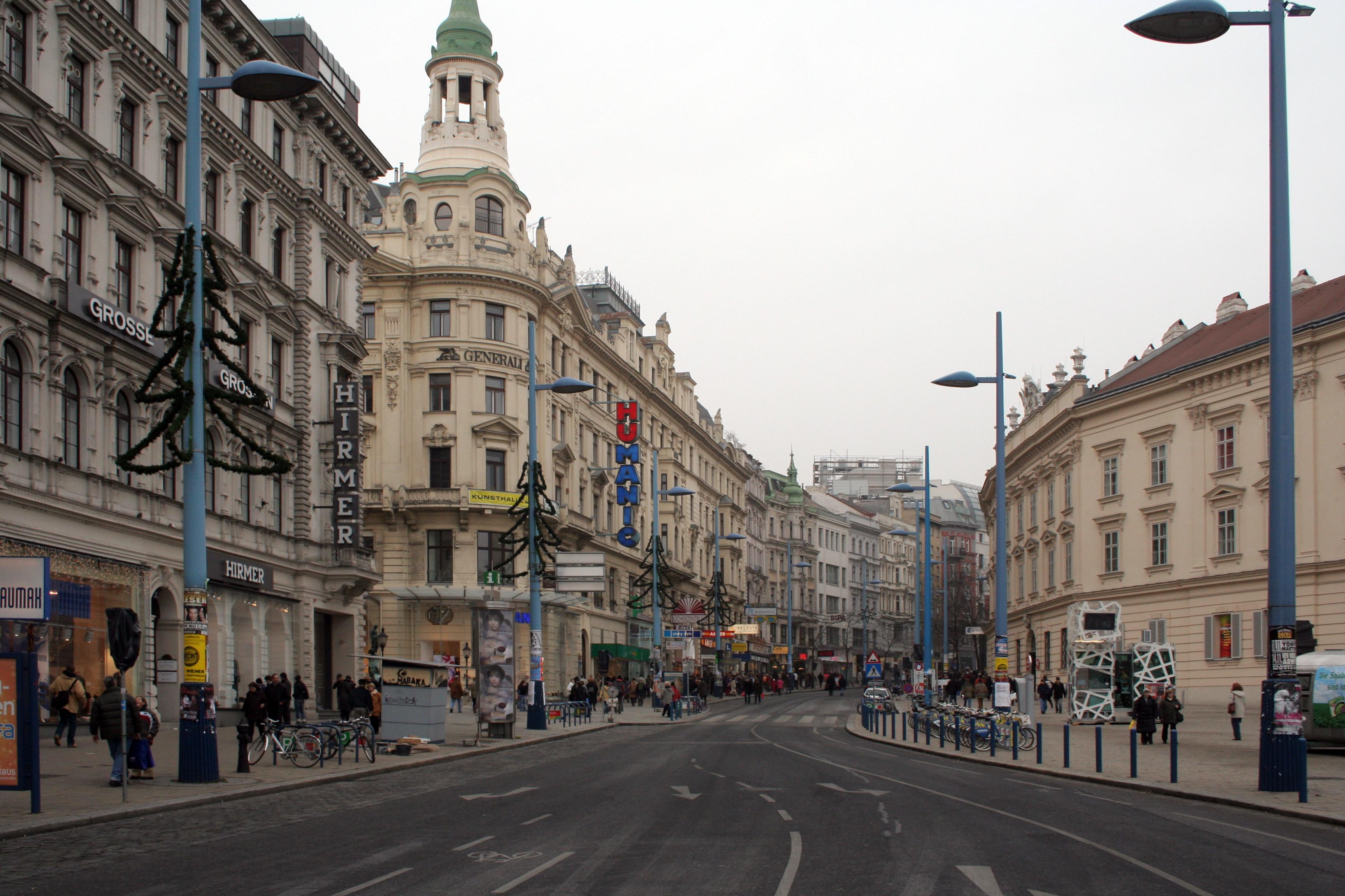Street map Vienna Wien Austria