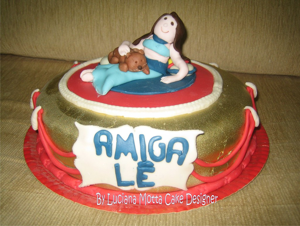 Bolo de Aniversário da Amiga Lê (Lê´s birthday cake)
