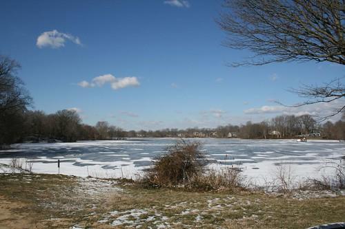 winter snow ice water de frozen pond delaware greghughes