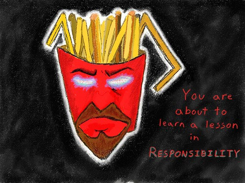 Frylock is Angry!