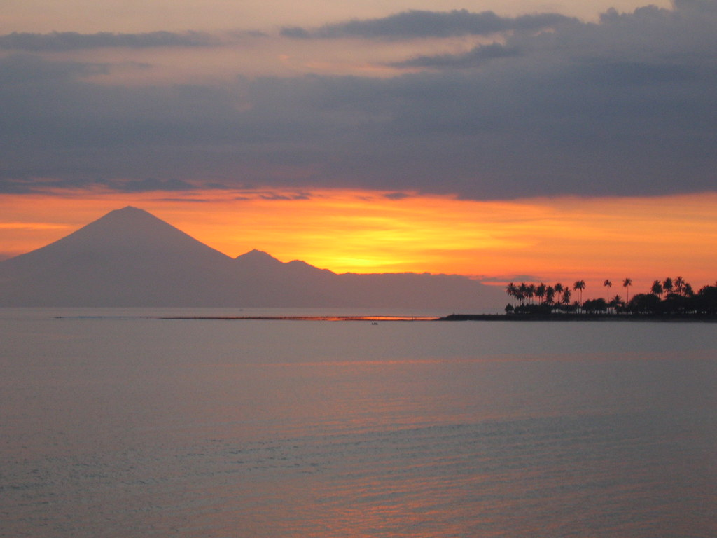 Sunset over Lombok