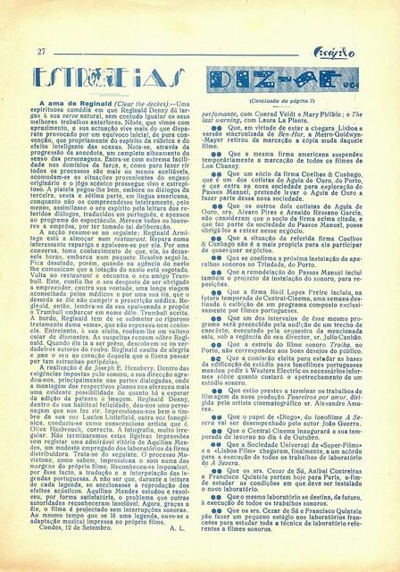 Cinéfilo, Nº 109, 1930 - 27