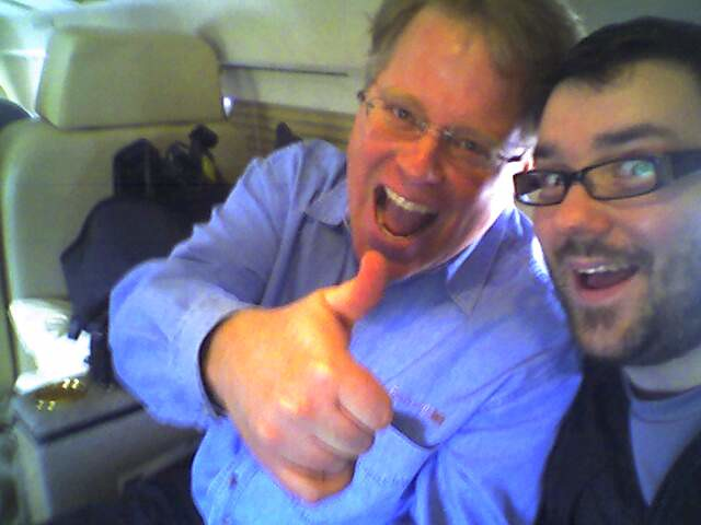 Scoble and me on Edwards jet