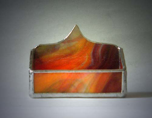 Multi Swirl Stained Glass Business Card Holder