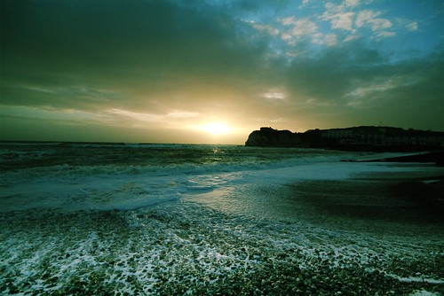 Sunset at Freshwater Bay, Isle of Wight