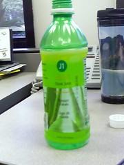 Aloe juice with floaty chunks