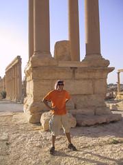 Hubbers at ruins, Palmyra, Syria