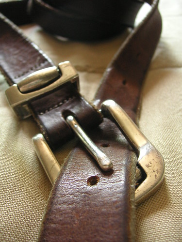 Leather Belt, Metal Buckle by Beatrice Murch, on Flickr