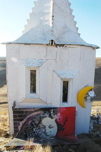 Shrine face, Karl.Krogstad's Shrine Circusanity, eastern Washington desert, USA by Wonderlane