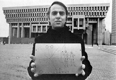 Carl Sagan (placa en Pioneer)