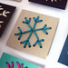 Snowflake sewing cards