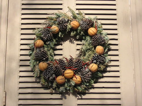 Wreath at Colonial Williamsburg, VA, Christmas 2006