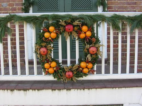 Wreath at Colonial Williamsburg, VA, Christmas 2006