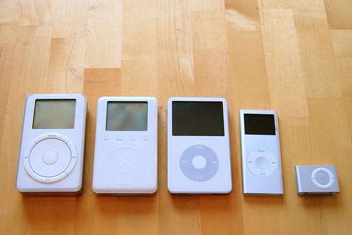 Five iPods