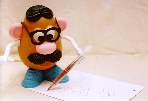 Mr potato writes a letter