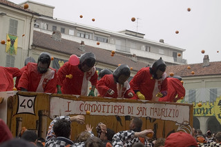 Carri da Getto Battle of Oranges - Battaglia delle Arance 2007 - Ivrea