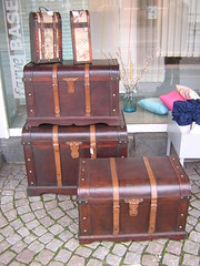 furniture(1.0), wood(1.0), chest(1.0), baggage(1.0), trunk(1.0), antique(1.0), suitcase(1.0),