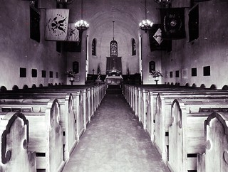 Presidio Main Post Chapel, San Francisco, CA interior historic photo