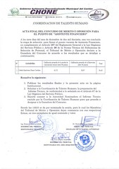 Actas finales de concursos de mérito y oposición Asistente Financiero y Promotor de Ambiente