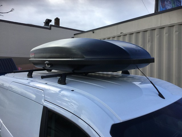 2015 Ford Transit Connect LP6 Install W. Skybox 16 Carbonite. Close Up Top