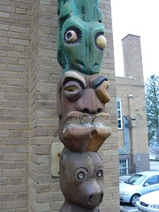 carving, totem pole, art, sculpture, tiki, totem,