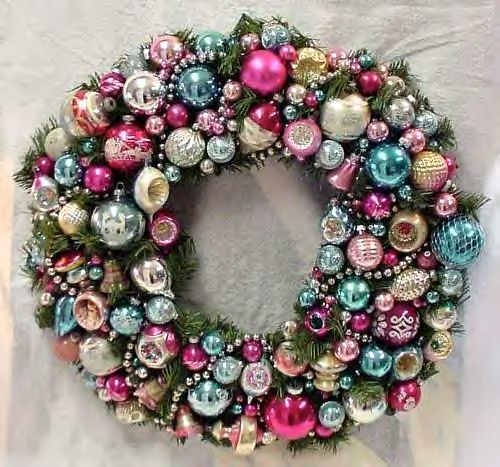 Fabbbbulous vintage ornament wreath