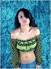pattern, black hair, chest, clothing, abdomen, limb, trunk, photo shoot, long hair, navel, adult,