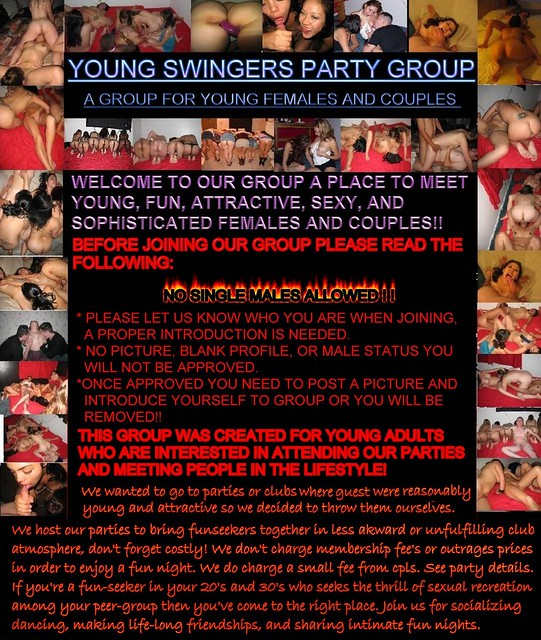 Young Swingers Party Group on