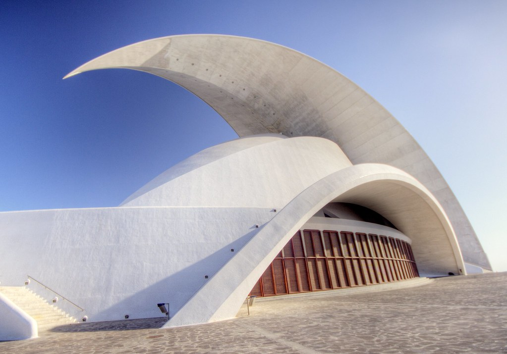 abstract building with concrete wave
