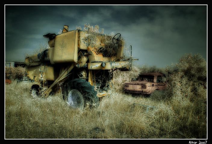 Infrared Jonh Deere Harvester