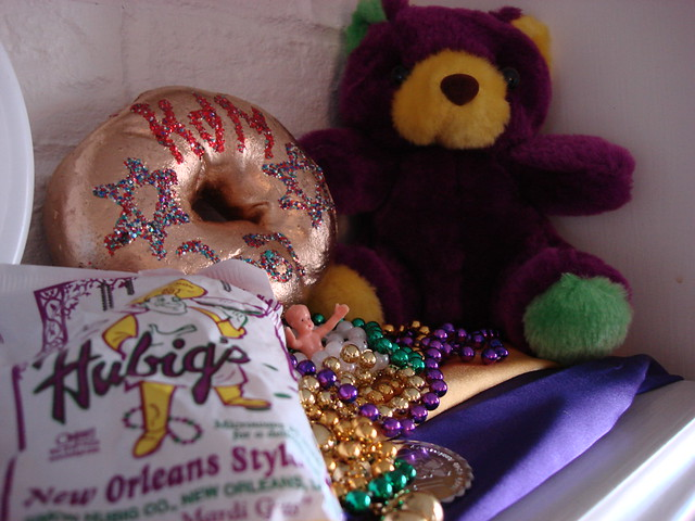 Part of our Mardi Gras Mantle