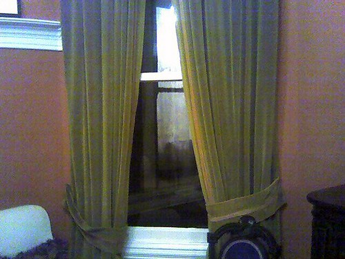 Bob  Guccione's curtains