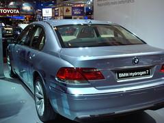 sports car(0.0), automobile(1.0), automotive exterior(1.0), executive car(1.0), wheel(1.0), vehicle(1.0), automotive design(1.0), sports sedan(1.0), auto show(1.0), bmw 7 series(1.0), bumper(1.0), bmw hydrogen 7(1.0), sedan(1.0), personal luxury car(1.0), land vehicle(1.0), luxury vehicle(1.0), vehicle registration plate(1.0),