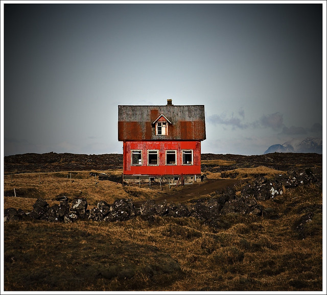 house, abandoned, iceland