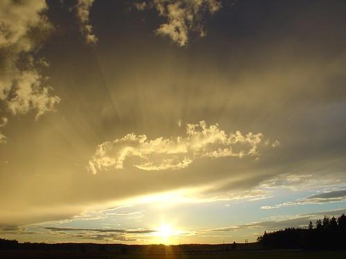 light sunset summer sky sun clouds finland outdoors evening porvoo sonydscv1