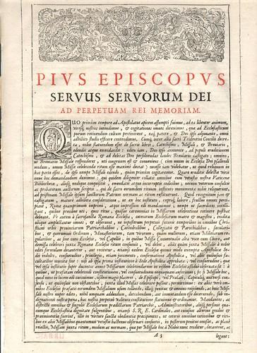 Missale Novum Romanum 1679
