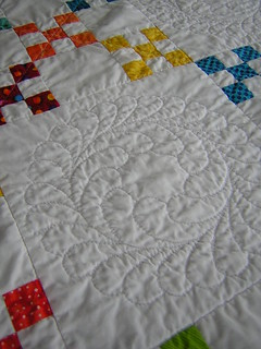 double ninepatch close quilting