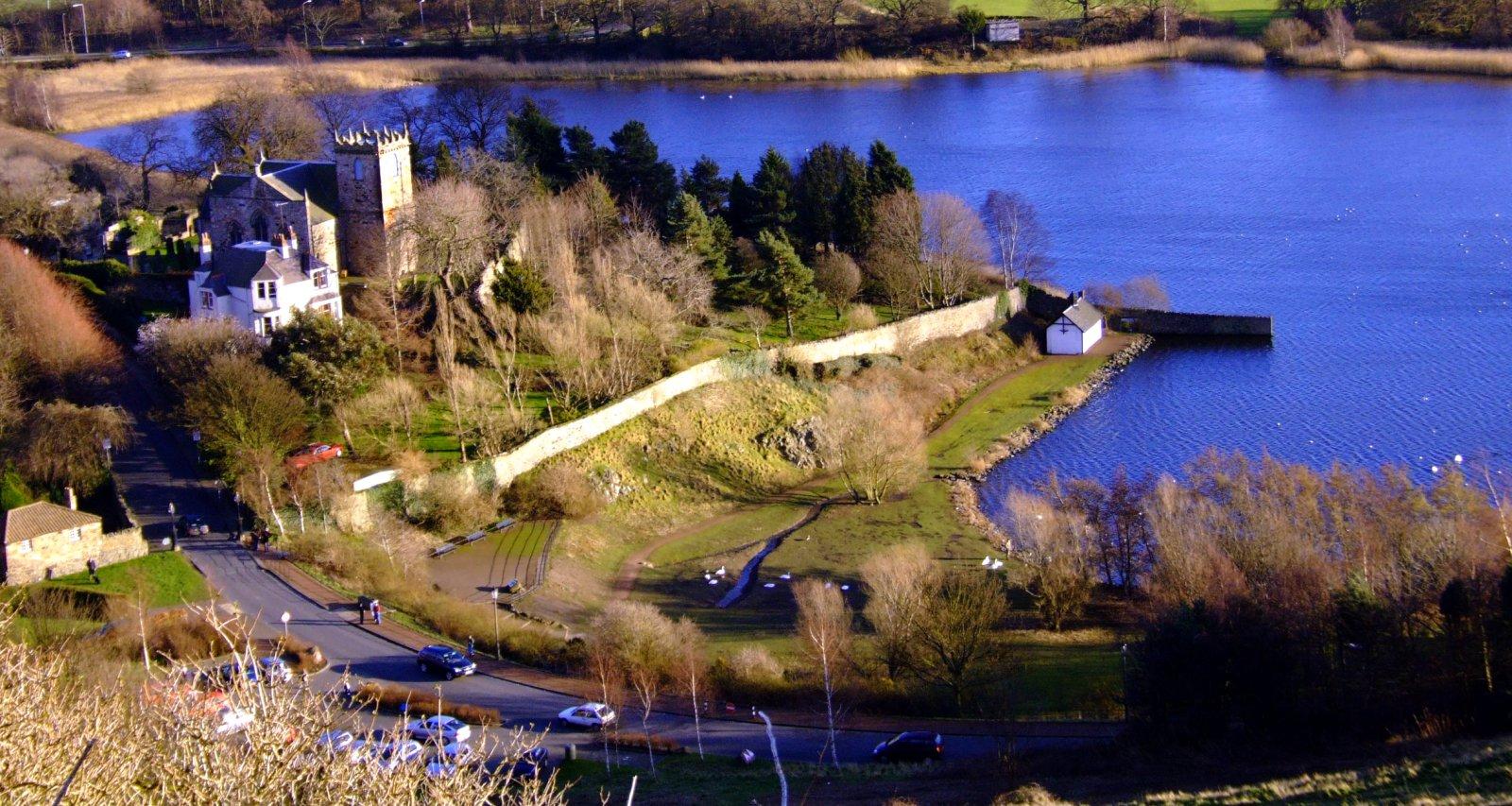 Duddingston Loch and village