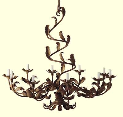 Chandeliers, Wrought Iron  Bronze Chandeliers | Pottery Barn