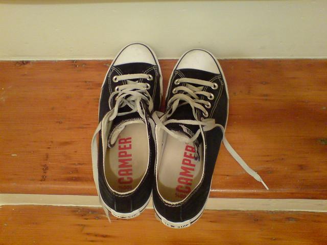 Camper Shoes Brown Weave Heel Code Cam