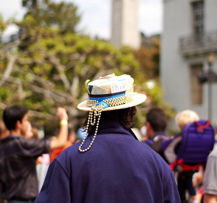 Rally Hat, Berkeley, April 2006